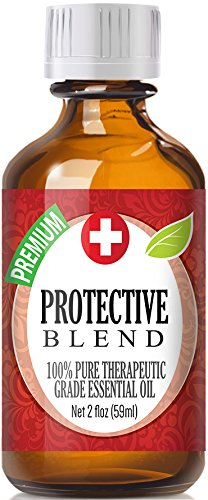 Protective Blend 100% Pure, Best Therapeutic Grade Essential Oil - 60ml / 2 (oz) Ounces - Comparable to DoTerra's OnGuard - Sweet Orange, Clove, Cinnamon Bark, Eucalyptus, Rosemary