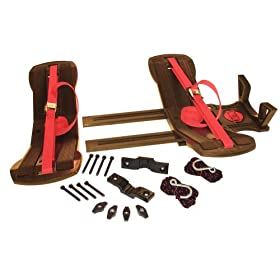 Malone SeaWing/Stinger Combo Saddle Style Universal Car Rack Kayak Carrier with Load Assist Module