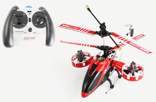4-ch Mini Infrared Rc Heli with Gyro (Red) 4 Channel Rc Helicopter