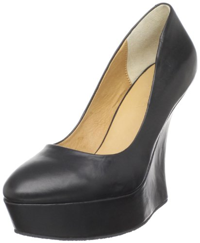 LAMB Women's Novice Black Wedges Heels G1665 6.5 UK, 8.5 US