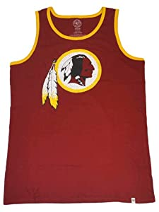 Washington Redskins 47 Brand Red Faded Sleeveless Cotton Tank Top T-Shirt by