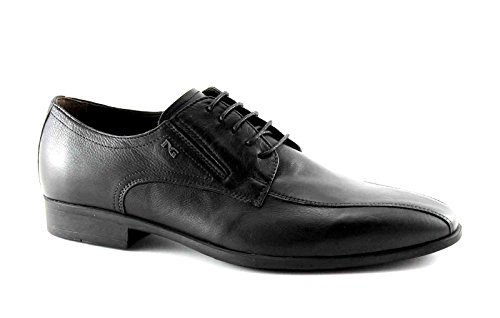 NERO GIARDINI 4551 nero scarpe uomo eleganti cerimonia derby 42