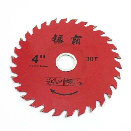 "Dimart Lumber Cutter 4"" Diameter 30 Toothed Circular Saw Blade Red"