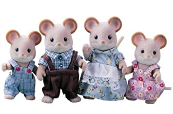 Sylvanian Families Maces Mouse Family by Sylvanian Families