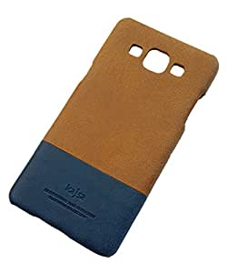 Kajsa Dual Color PU Leather Protective Hard Back Case Cover for Samsung Galaxy J5 [ NOT FOR J5 - 6 ( 2016 ) ] - Brown/Blue