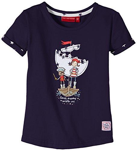 SALT AND PEPPER Girl's Short Sleeve T-Shirt -  Blue - Blau (navy 460) - 4 Years