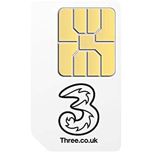 Three Mobile Broadband Ready to Go 1GB Preloaded Data Standard SIM for 3G Tablets