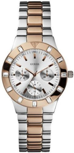 GUESS U12649L1 Feminine High-Shine Sport Mid-Size Watch