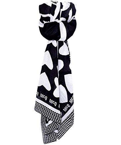 McQ Alexander McQueen Sciarpa di cuori Nero Unica Taglia