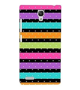 Color Line Dots Pattern 3D Hard Polycarbonate Designer Back Case Cover for Xiaomi Redmi Note :: Xiaomi Redmi Note 4G