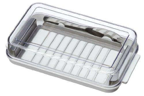 ステンレスカッター式 バターケース バターナイフ付