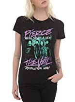 Pierce The Veil Revolution Girls T-Shirt Size : Medium