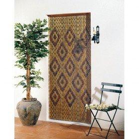 Rideau de porte perles olives en bois 90x220 cm vert - Rideau de porte en bois ...
