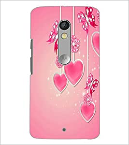 PrintDhaba Heart D-2105 Back Case Cover for MOTOROLA MOTO X PLAY (Multi-Coloured)