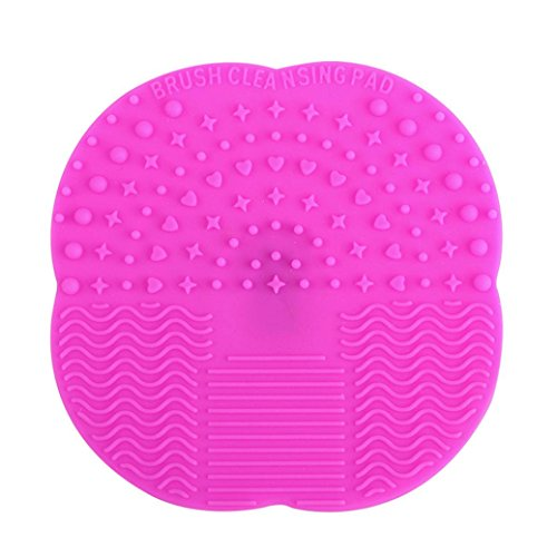 Internet Nettoyage Gant MakeUp brosse de lavage Scrubber Conseil Cosmetic Clean Hot Pink