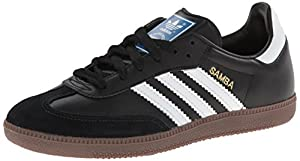 adidas Originals Men's Samba Fashion Sneaker,Black/White/Gum,9.5 D US