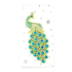 Galaxy S6,The Bestdeal Samsung Galaxy S6 Wallet Case Leather Folio Support Smart Wallet Case Cover with Card Holder&Magnetic Flip Horizontals (light blue peacock)