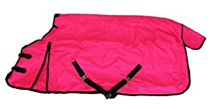 1200D Heavy Weight Waterproof Horse Turnout Blanket Hot Pink by AJ