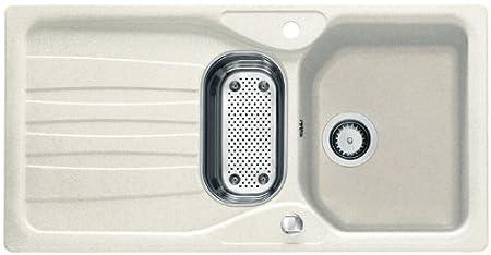 Franke Calypso COG 651Glacier Granite Sink Sink Kitchen Sink, White by FRANKE