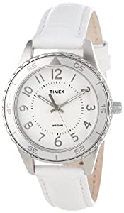"""Timex Women's T2P022KW """"Ameritus"""" Watch with Leather Band"""