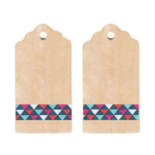 Dress My Cupcake Rustic Wooden Gift and Favors Tags DIY Kit, Vintage Pennant Banners