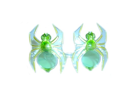 WeGlow International Spider Light Up Glasses Green (2 Pieces)
