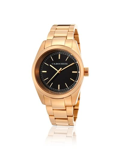 Cabochon Women's 517 De Ce Monde Rose/Black Stainless Steel Watch