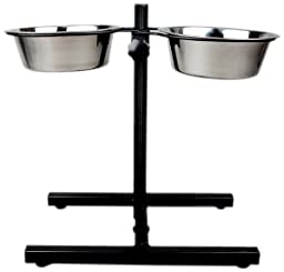 Advance Pet Products Adjustable H Shape Double Diner, 5-Quart
