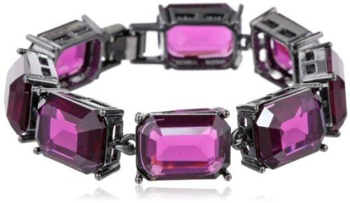 Jessica / Simpson sparkling Amethyst color bijoux bracelet 20 cm ladies [parallel import goods]