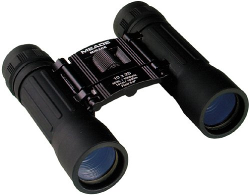 Meade 10 X 25 Mini Binocular W/Case, Strap & Cleaning Cloth - Mea10X25