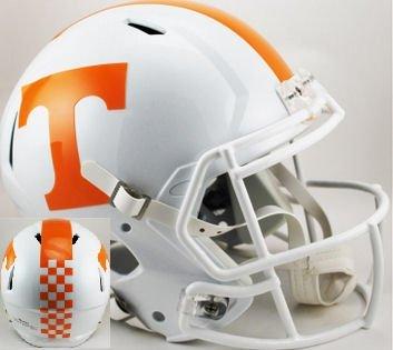 TENNESSEE VOLUNTEERS 2015 NCAA Riddell SPEED Full Size REPLICA Football Helmet (CHECKERED STRIPE) (Football Helmet Stripes compare prices)