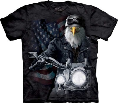 Biker Stryker The Mountain Tee Shirt, Charcoal, Adult X-Large