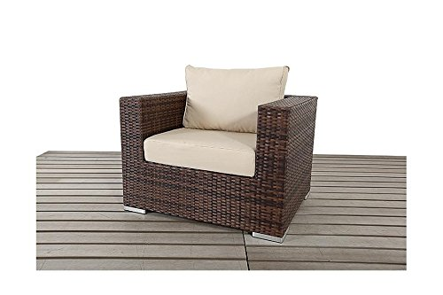 Sydney Rustic Garden Möbel Single Rattan Sessel