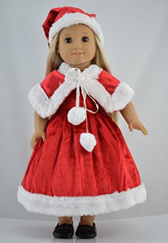 Santa Suit Christmas Dress Doll Clothes for 18