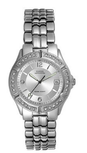 Guess Crytsal Stainless Steel Bracelet Watch G75511m