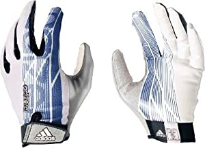 Adidas Adult Adizero 5 Star Receiver Football Gloves , Platinum|Royal Blue,...