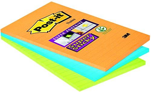 post-it-brand-51335-foglietti-super-sticky-colori-neon-45-fogli-102-mm-x-152-mm