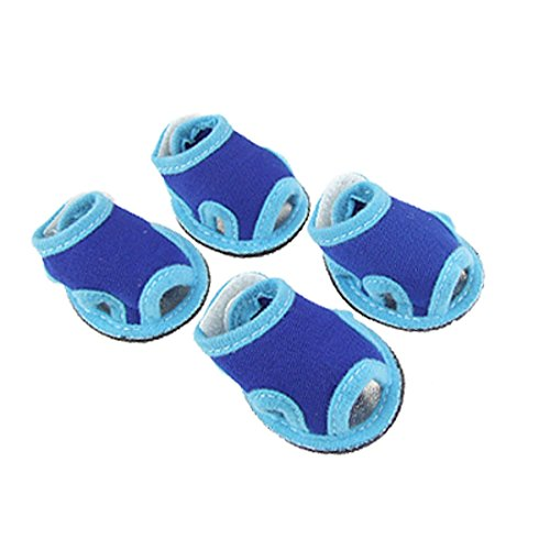 sourcingmap-pet-dog-puppy-outdoor-walking-velcro-sandals-shoes-size-2-blue-set-of-4