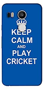 Snoogg Keep Calm And Play Cricket Designer Protective Back Case Cover For Lg ...