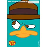 Phineas and Ferb Favor Treat Goodie Bags (8) Perry Disney Birthday Party Supplies