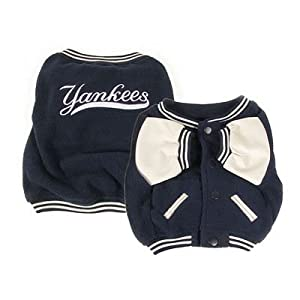 New York Yankees Dog Varsity Jacket Coat Official MLB - Size Small
