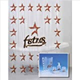 Houston Astros Combo 7 Piece Frosty Bathroom Set & 3 Piece Bath Rug Set