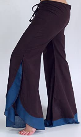 Palazzo pants shock trousers summer pant hippie goa pants - coffee / Long trousers/ Variation: