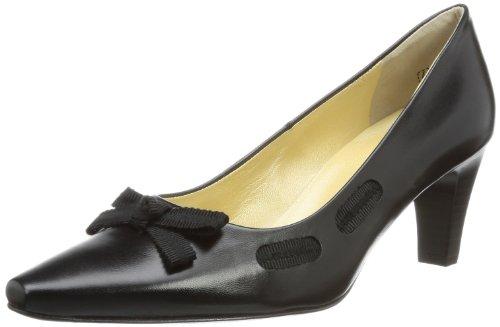 Peter Kaiser LONA Pumps Womens Black Schwarz (schwarz chevro/Ripsband) Size: 41.5