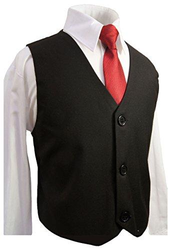 jungen anzug weste festlich set 3tlg schwarz mit hemd und. Black Bedroom Furniture Sets. Home Design Ideas