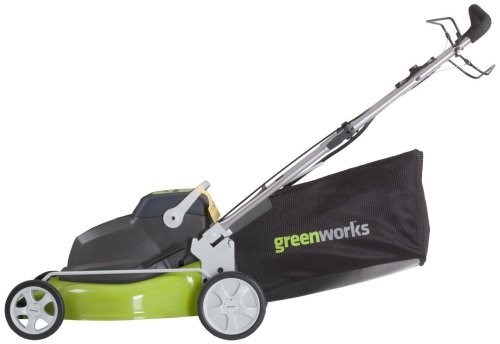 GreenWorks 25092 18-Inch 24-Volt Cordless Self Propelled 2-in-1 Lawn Mower (Discontinued by Manufactuer) picture