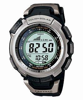 カシオ CASIO プロトレック PRO TREK PRG-110-1 海外モデル 方位 気圧 高度 計測可能 タフソーラー ウレタンバンド メンズ 腕時計 時計 【逆輸入品】