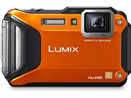 Panasonic Lumix DMC-TS5 16.1 MP Tough Digital Camera with 9.3x Intelligent Zoom (Orange) (Discontinued by Manufacturer)