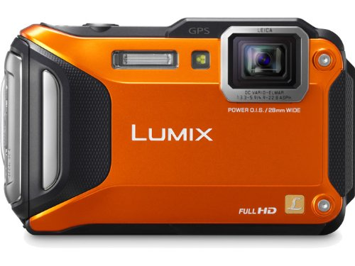 Panasonic Lumix DMC-TS5D 16.1 MP Tough Digital Camera with 9.3x Intelligent Zoom (Orange)