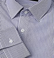 Autograph Slim Fit Pure Cotton Bengal Striped Chambray Shirt